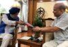 High Commissioner of Sri Lanka Milinda Moragoda meets the Minister of Petroleum and Natural Gas of India Shri Hardeep Singh Puri