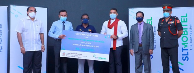 SLT-MOBITEL together with Ministry of Youth and Sports felicitates Wheelchair Tennis Team for triumphs at World Cup 2021
