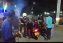Police to take action against the traffic policeman over brutal attack two youths