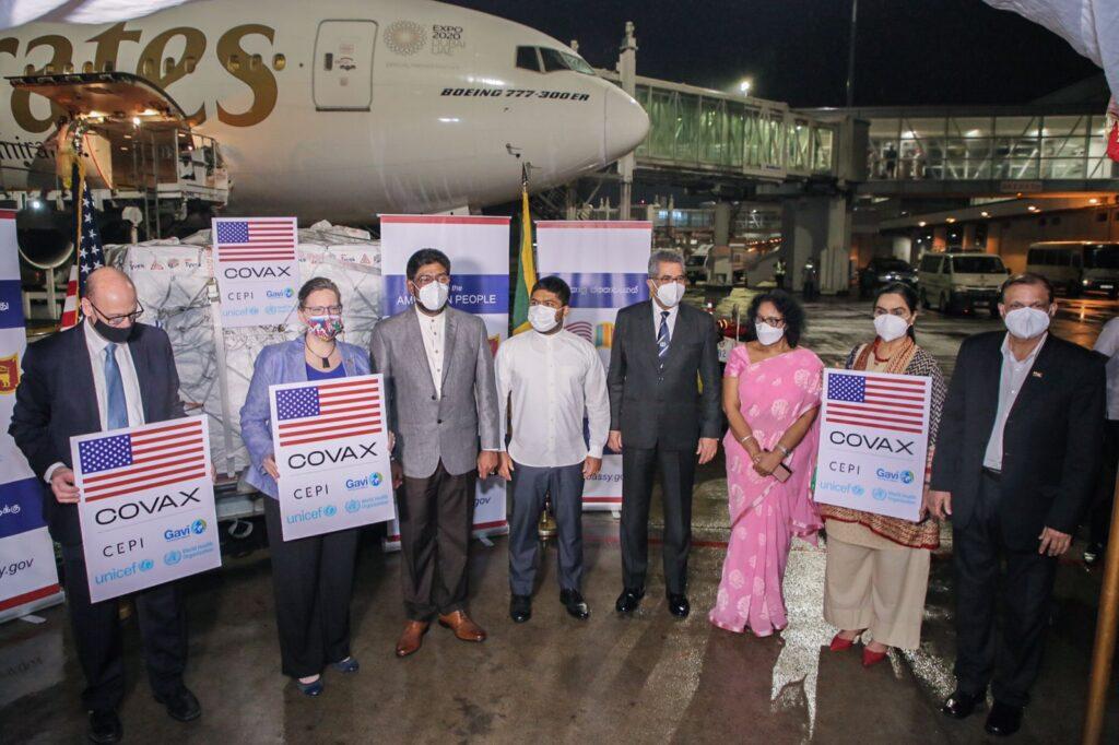 The U.S. donates nearly 800,000 Pfizer-BioNTech vaccines to Sri Lanka